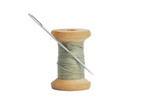 Spool of thread with a needle Royalty Free Stock Photography