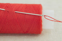 The spool of thread with a needle Royalty Free Stock Photo