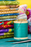 Spool of thread with needle Royalty Free Stock Photography