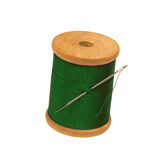 Spool of thread and needle. On white background Stock Image