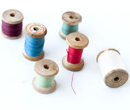 Spool of thread . Sew accessories. Royalty Free Stock Image