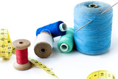 Spool of thread . Sew accessories. Royalty Free Stock Photography