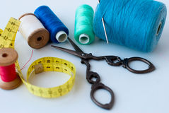 Spool of thread . Sew accessories. Royalty Free Stock Photos