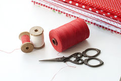 Spool of thread . Sew accessories. Stock Image