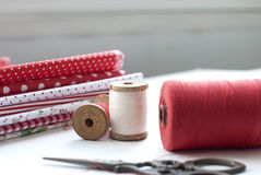 Spool of thread . Sew accessories. Stock Photography