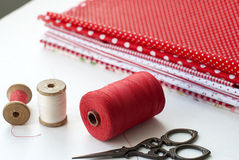 Spool of thread . Sew accessories. Royalty Free Stock Photo