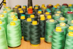 Spool of thread for sewing Stock Images