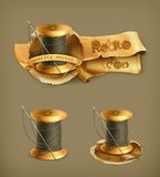 Spool of thread, vector icons. Spool of thread, vector illustration icons Royalty Free Stock Photo
