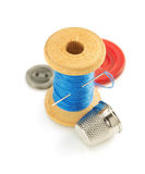 Spool of thread  on white Royalty Free Stock Image