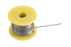 Spool of tin for soldering Stock Photo