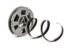 Spool of vintage 8mm movie film Stock Images