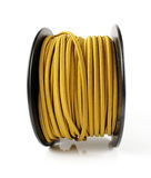 Spool of Yellow Wire Stock Photos