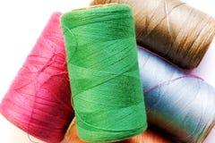 Spools. Closeup of thread on spools Royalty Free Stock Image
