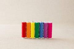 Rainbow coloured thread Royalty Free Stock Photography