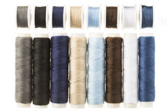 Spools and Bobbins of Threads Stock Photos