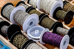 Spools with chains 1 Royalty Free Stock Images