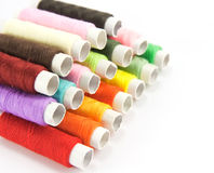 Spools of color thread Stock Photo
