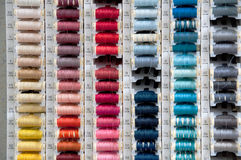 Spools of Colored Thread Royalty Free Stock Photography