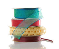 Spools of Colorful Ribbon Stock Photos