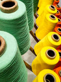Spools of colorful thread Stock Photo
