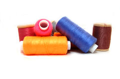 Spools of colour thread Royalty Free Stock Images