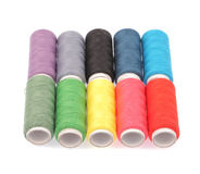 Spools of colours threads Stock Image
