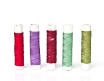 Spools of colours threads Stock Images