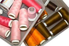 Spools of Embroidery Thread Stock Photography