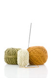 Spools and needle Royalty Free Stock Photography