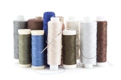 Spools Of Thread Stock Photo