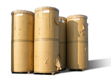 Spools of paper. In white spool of paper Royalty Free Stock Image