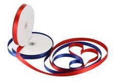 Spools ribbon isolated on white Royalty Free Stock Photo