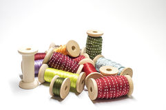 Spools and ribbons Stock Photo