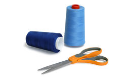 Spools and scissors Royalty Free Stock Image