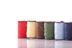 Spools of Sewing Thread Stock Photos
