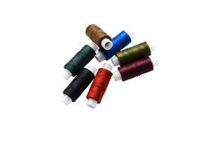 Spools of sewing threads Stock Photography
