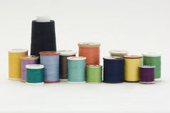 Spools of sewing threads Royalty Free Stock Photography