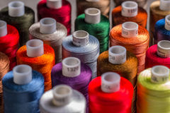Spools of silk thread Stock Photography