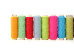 Spools of thread Stock Photos