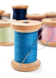 Spools of thread Stock Photos