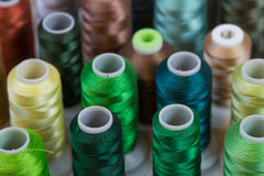 Spools of thread. Arranged for colorful background Stock Image
