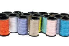 Spools of Thread Background Royalty Free Stock Photography