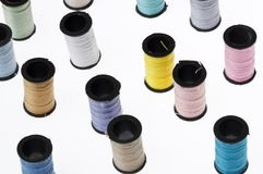 Spools of Thread Background Stock Images