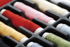 Spools of thread, close-up Royalty Free Stock Photo