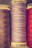 Spools of thread close up. royalty free stock image