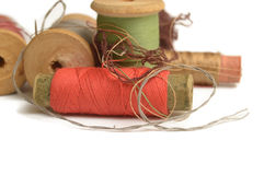 Spools of thread Stock Images