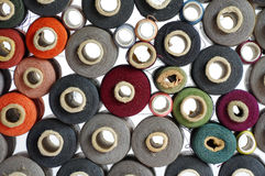 Spools of thread group objects Royalty Free Stock Image