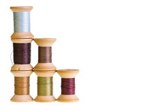 Spools of thread isolated on white Royalty Free Stock Image