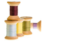 Spools of thread isolated on white Stock Image