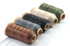 Spools of thread. Isolated spools of thread on white background Royalty Free Stock Image